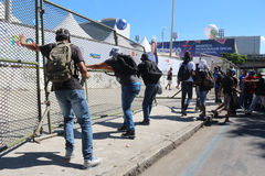 Protests in Rio de Janeiro has violence and damage to Carnival s Royalty Free Stock Photo