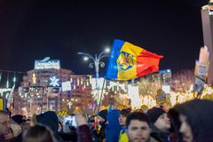 Protests in Romania in December 2017. The photo was taken on December 10, 2017 in Bucharest, Romania Stock Photography