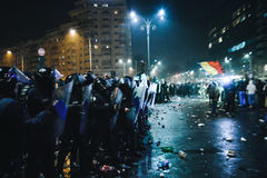 Protests Romania Stock Images