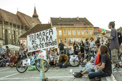 Protests for Rosia Montana Stock Image