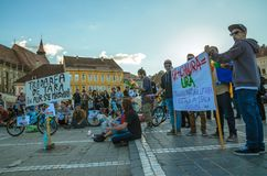 Protests for Rosia Montana Stock Photo