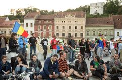 Protests for Rosia Montana Stock Photos