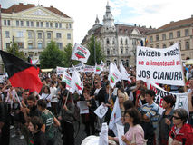 Protests for Rosia Montana Stock Photography