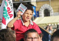 Protests for Rosia Montana Stock Images
