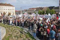 Protests for Rosia Montana Royalty Free Stock Photos