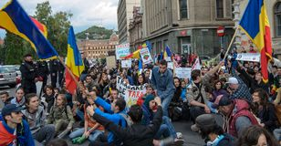Protests for Rosia Montana Royalty Free Stock Images