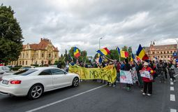 Protests for Rosia Montana Royalty Free Stock Photo