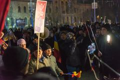 24 01 2018-protests in Rumänien Stockfoto