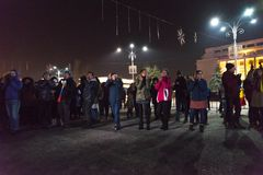 24 01 2018-protests in Rumänien Stockbilder