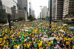 Protests in Sao Paulo, Brazil Royalty Free Stock Images