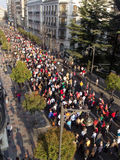 Protests in Spain Stock Images