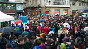 Protests in Spain Royalty Free Stock Image