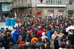 Protests in Spain Royalty Free Stock Images