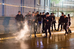 Protests on the streets of Istanbul Stock Images