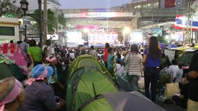 Protests to Shut Down Bangkok stock video footage