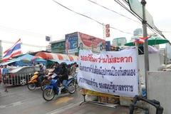 Protests to Shut Down Bangkok Royalty Free Stock Photo