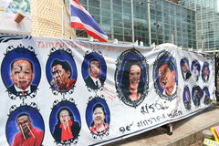 Protests to Shut Down Bangkok Stock Images