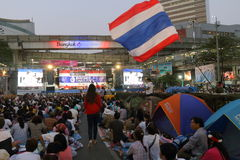 Protests to Shut Down Bangkok Royalty Free Stock Image