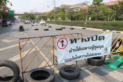 Protests to Shut Down Bangkok Stock Photography