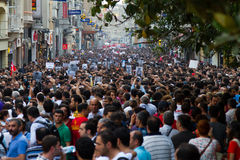 Protests in Turkey Royalty Free Stock Image
