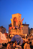 Protests in Turkey Taksim Square, Taksim Square, Atatürk Statue Stock Photos