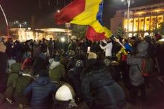 24 01 2018-protests w Rumunia Zdjęcie Royalty Free
