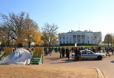 Protests- White House, Washington America stock photo