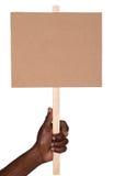 Protesttecken Arkivfoto