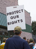 Protesttecken Arkivfoton