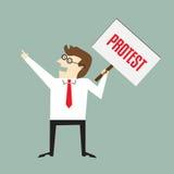 Protestteken Stock Foto's