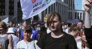 Protestującego skandowanie Rosja będzie bezpłatny zdjęcie wideo