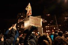Protestujący Atutowy ` s Muzułmański Imigracyjny zakaz obrazy royalty free