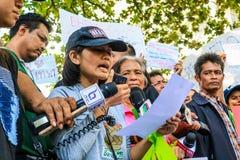 Protestujący prawo dot. środowiska jest niesprawiedliwy obraz stock