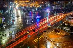 Protestujący w zwycięstwo kwadracie, Bucharest, Rumunia Fotografia Royalty Free