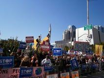 Protestujących chwyta ampuły Znak Obraz Stock