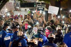 Protestujący aresztuje Obraz Stock