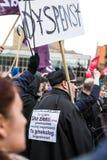 Protestuje przeciw antyaborcyjnemu prawu w Polska, Gdańskim Obrazy Stock