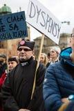 Protestuje przeciw antyaborcyjnemu prawu w Polska, Gdańskim, 2016 04 24, Zdjęcie Royalty Free