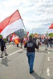 Protestuje przeciw fuzi Alsace region z Lorraine i Champa Zdjęcie Stock