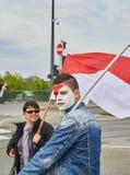 Protestuje przeciw fuzi Alsace region z Lorraine i Champa Fotografia Stock