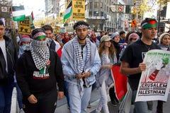 Protestuje w San Fransisco, CA co do Jerozolima oznajmiał capitol Isreal Zdjęcia Stock