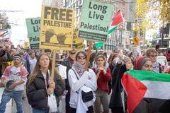 Protestuje w San Fransisco, CA co do Jerozolima oznajmiał capitol Isreal Obrazy Stock