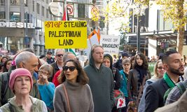 Protestuje w San Fransisco, CA co do Jerozolima oznajmiał capitol Isreal Obraz Royalty Free