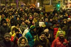 Protesty w Bucharest Zdjęcia Stock