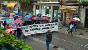 Protesty w Hiszpania Zdjęcia Stock