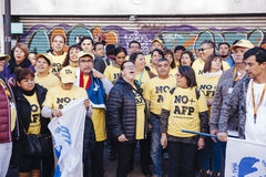 Protesty w Valparaiso Obrazy Stock