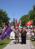 protesty wywołane lokalnego prawa fotografia stock