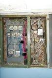 Protetor bonde, fiação elétrica de má qualidade retro Fotografia de Stock
