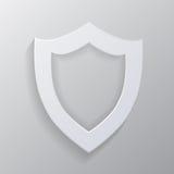 Protetor branco vazio. Imagens de Stock