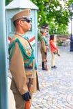 Protetor cerimonial no palácio presidencial Imagem de Stock
